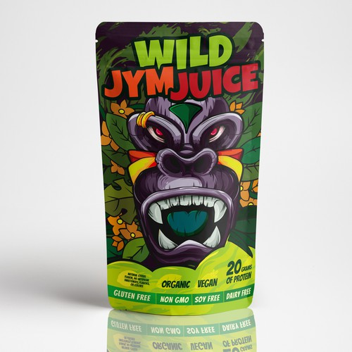Concept doy-pack for supplement Wild Gym Juice