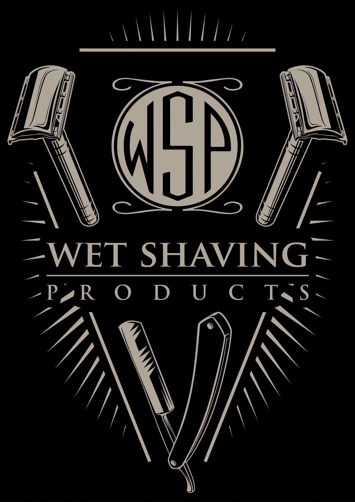 T Shirt Design for Shaving Products Company