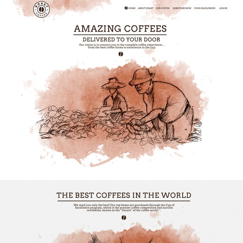 "Design website for new global coffee company ""Roast.com"""