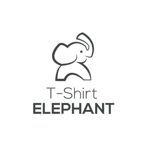 Logo concept T-shirt Elephant