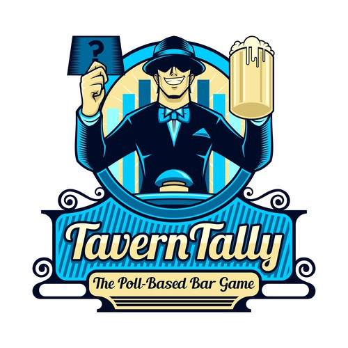Captivating logo for Poll-Based Bar Game
