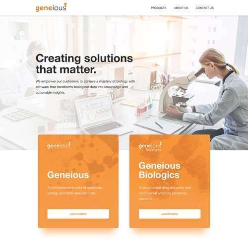 New Homepage Design for Geneious.com