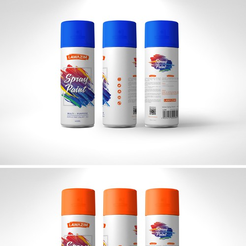 Lawazim Spray Paint Can Design 02