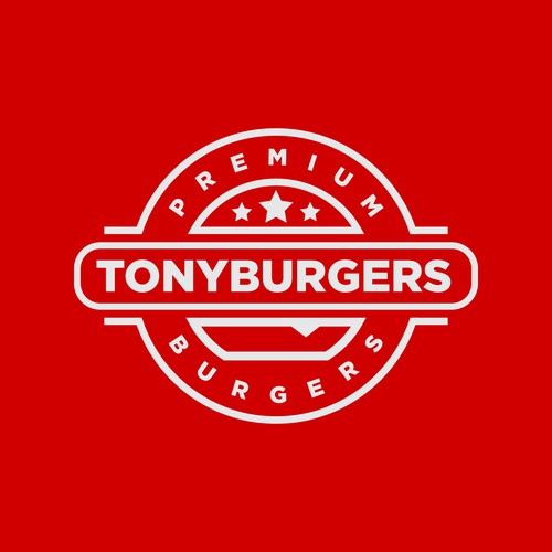 Badge logo design concept for Burger Restaurant