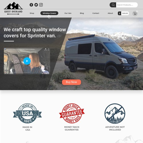 Website design for a window manufacturing company