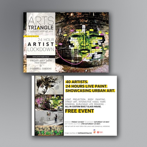 New postcard or flyer wanted for Arts Triangle