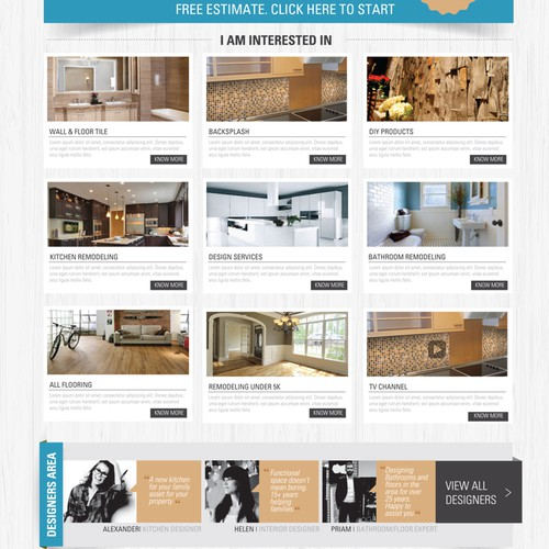 "Create New Website for Flooring and Remodeling Business ""Tile Center"""