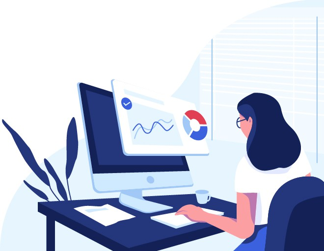 Website illustration/graphics for a purchasing software company