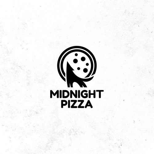 Bold logo for pizza store
