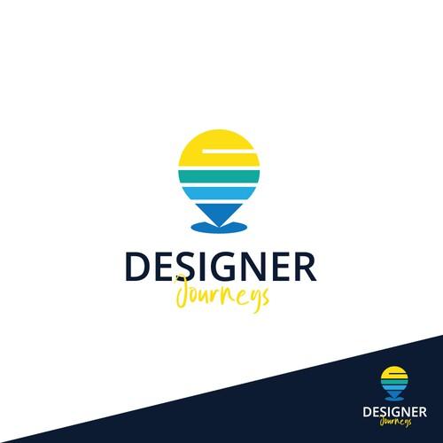 Logo design concept for Designer Journeys contest.
