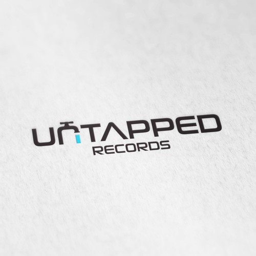 Winning design for Untapped Records logo contest.