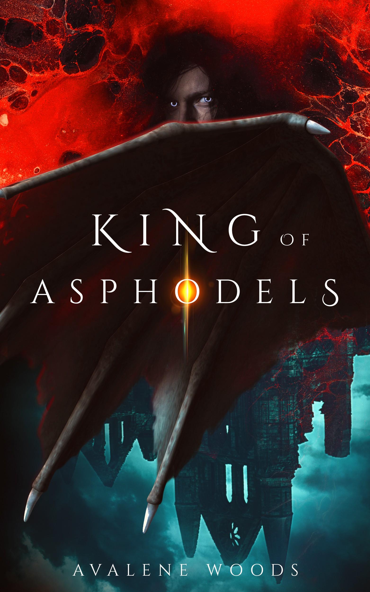 Compelling book cover for Underworld-inspired dark fantasy novel