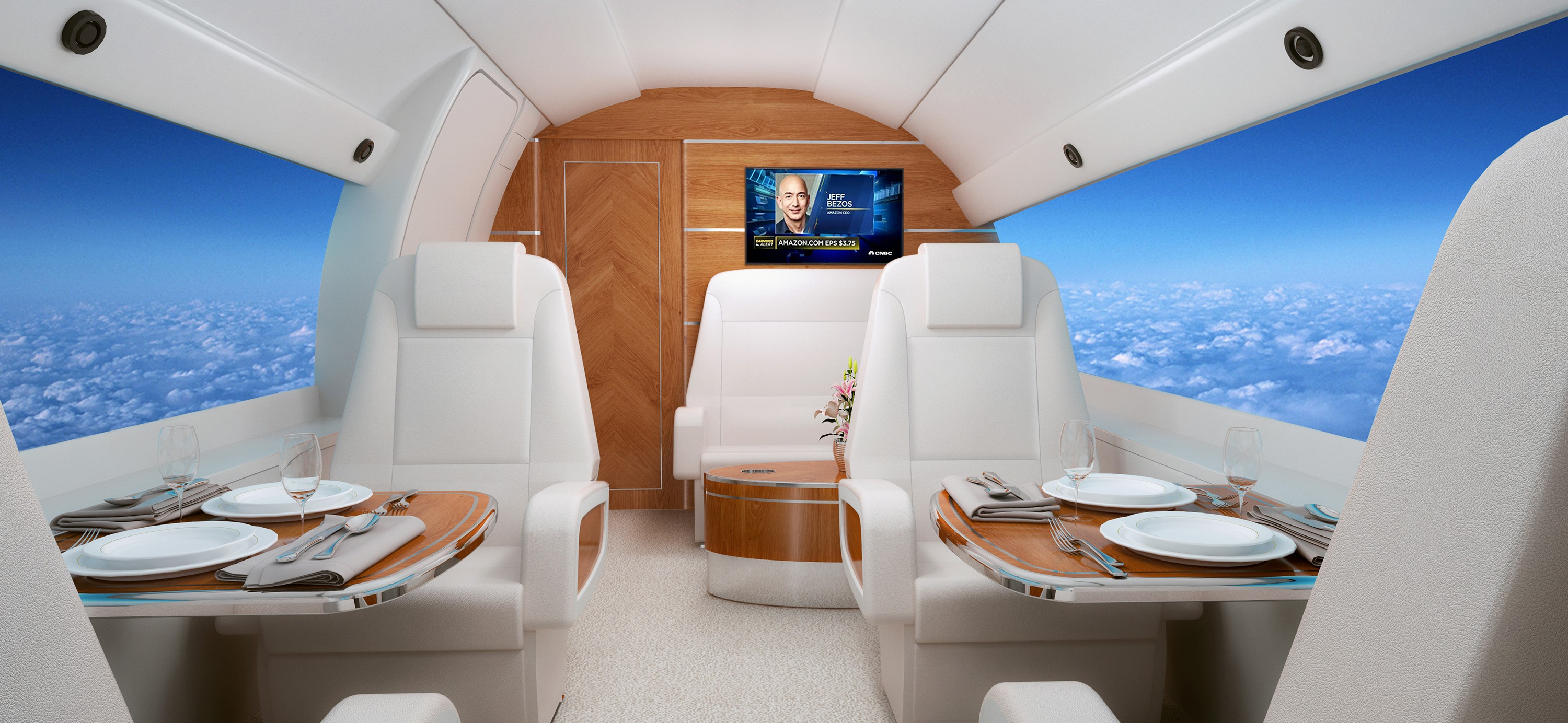 Design & Rendering for Jet Galley & Main Cabin