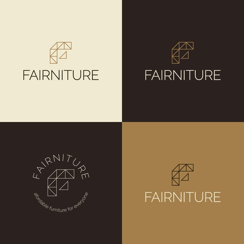 Logo for FAIRNITURE - Cardboard furniture for third world countries