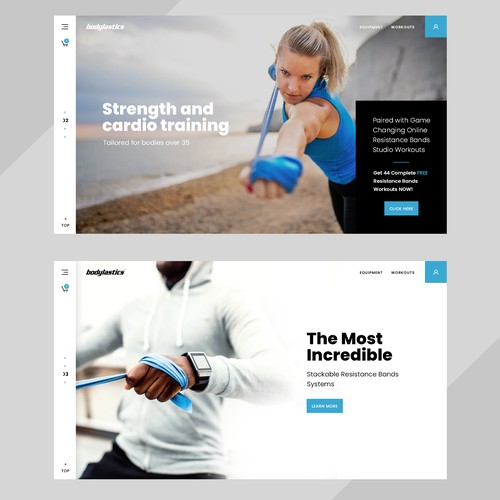 E-commerce webdesign for fitness products