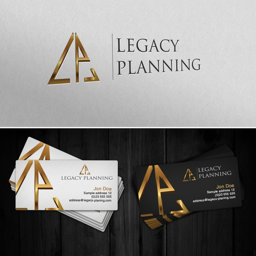 Create a CLASSIC and STRONG logo for Legacy Planning, LLC