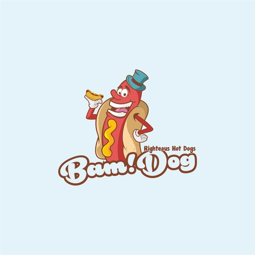 hot dog character logo