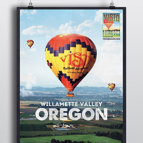 Poster For a Hot Air Balloon experience poster!