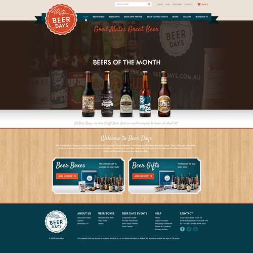 Design a fresh new website for a Craft Beer company!