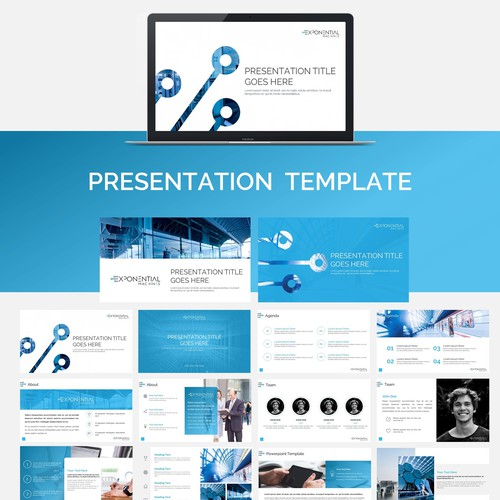 Powerpoint template for artificial intelligence startup