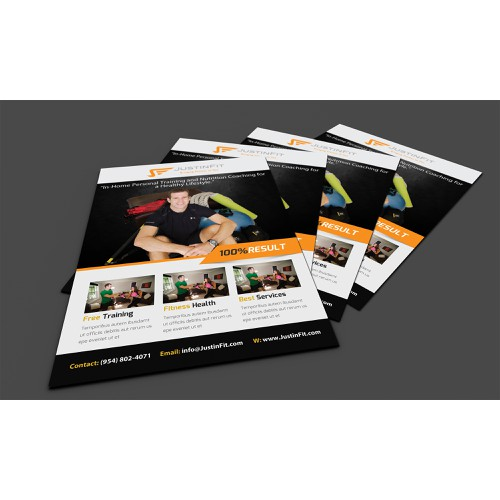 Create a high-end brochure for fitness company