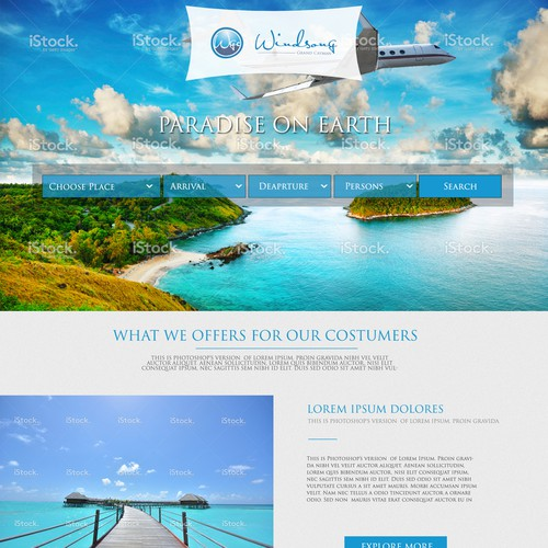 Website design neede for travel-related website