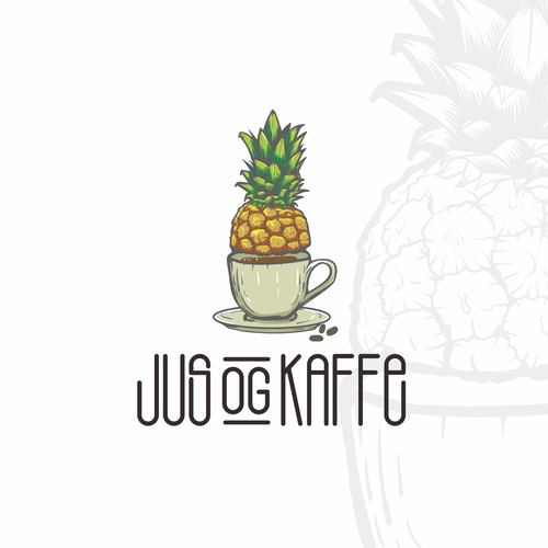 Fresh and Funky Logo for Juice & coffee Bar