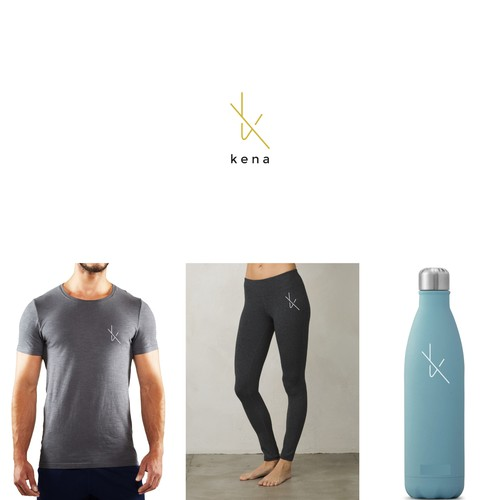 Elegant design for a yoga wear company