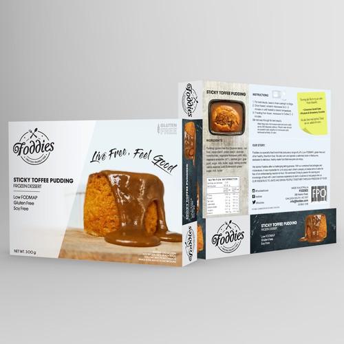 Packaging design for frozen food dessert/
