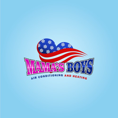 Logo Concept Mama's Boys - Air Conditioner and Heating