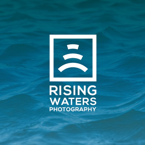 Logo concept for Rising Waters Photography