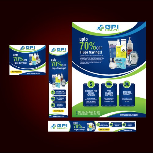 GPI Health Flyer and web banner