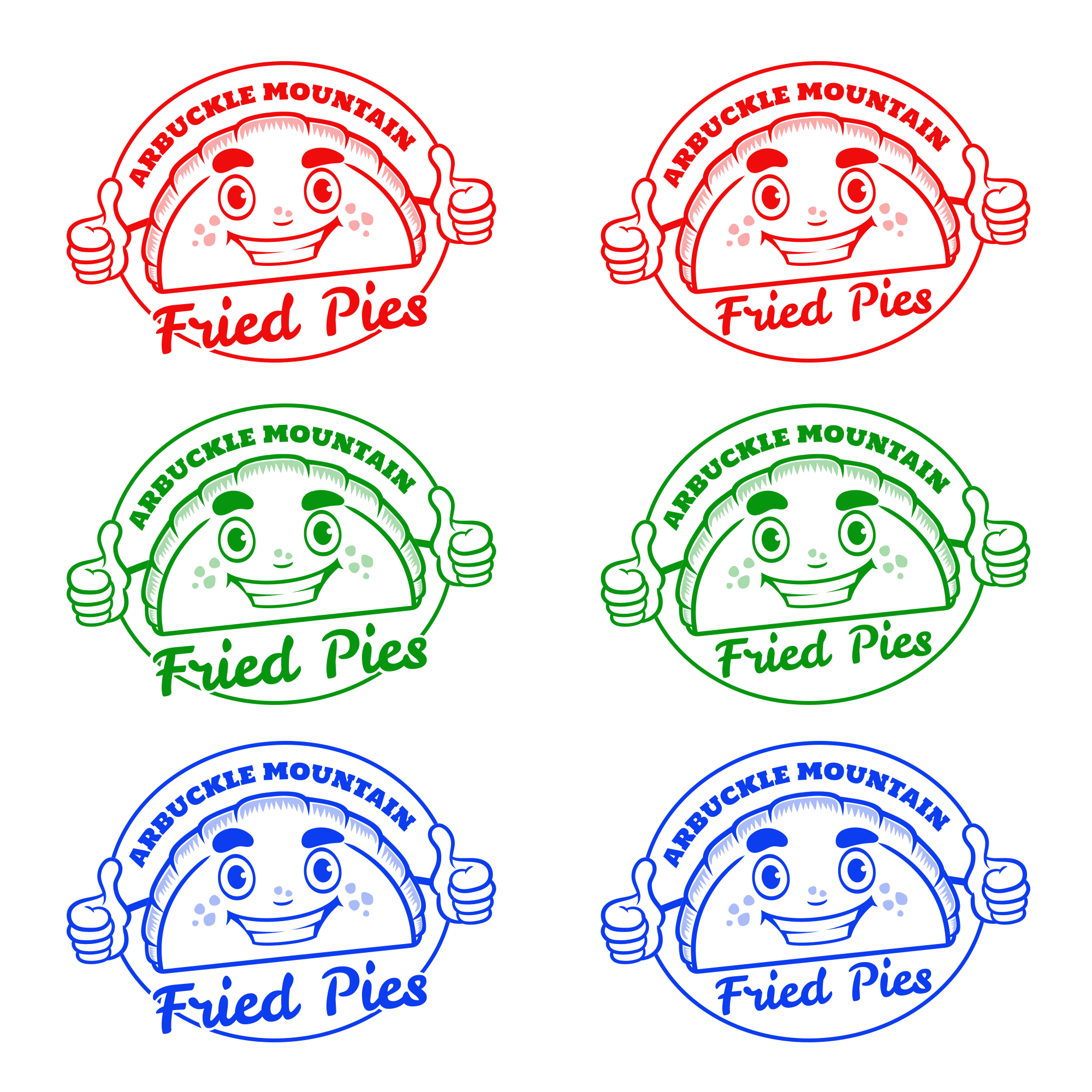 Design a logo for a nationally recognized on major networks fried pie shop.