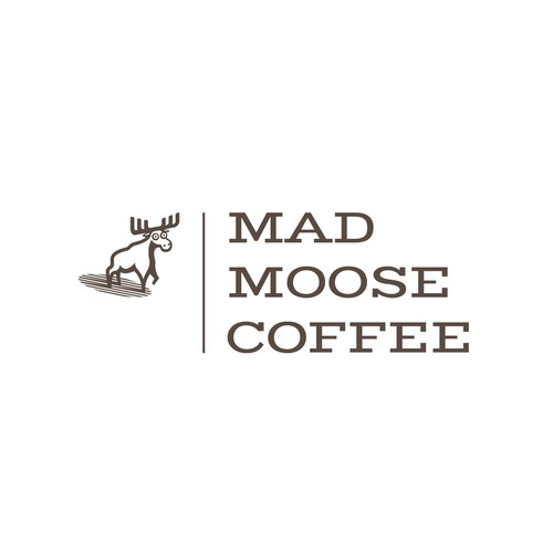 Vintage looking logo for Mad Moose Coffee