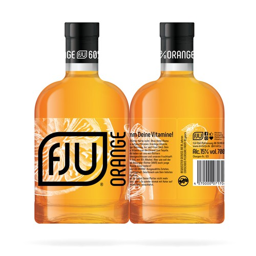 FJU ORANGE label