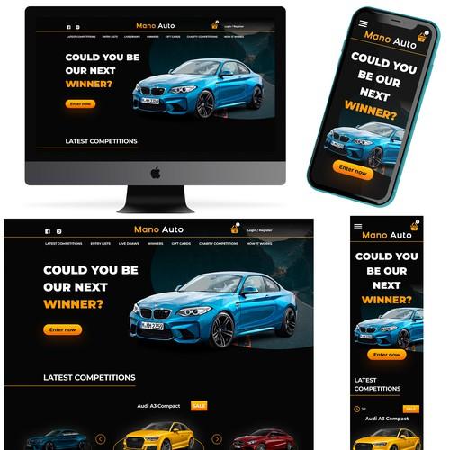 Design for a car website
