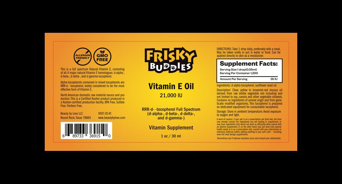 Frisky Buddies vitamin e oil