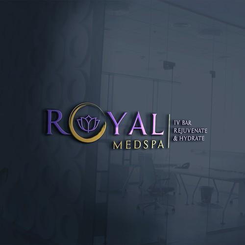 A trendy logo for Royal MedSpa & IV Bar