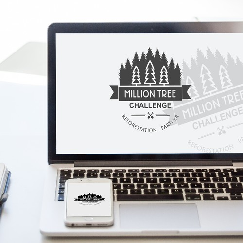 A tree planting logo