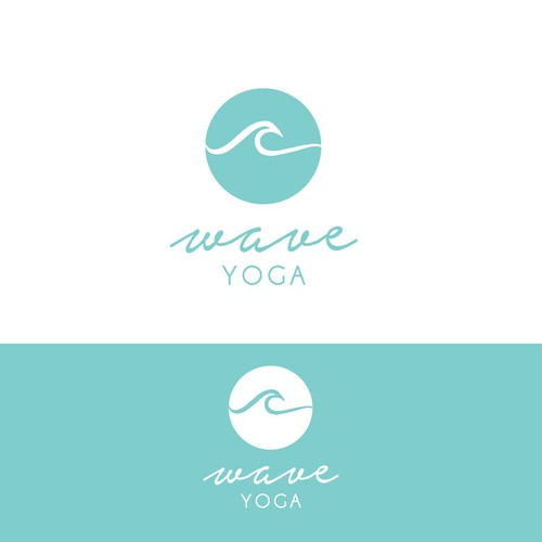 "Logo concept for ""Wave Yoga"""