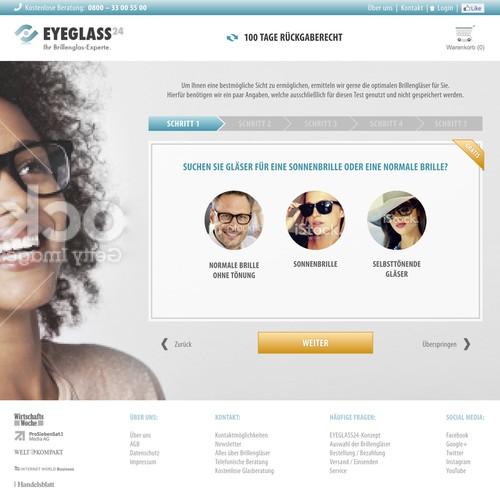 Gestaltet das weltweit erste Anamnese-Gespräch eines Online-Optikers, orientiert an der Offline-Welt