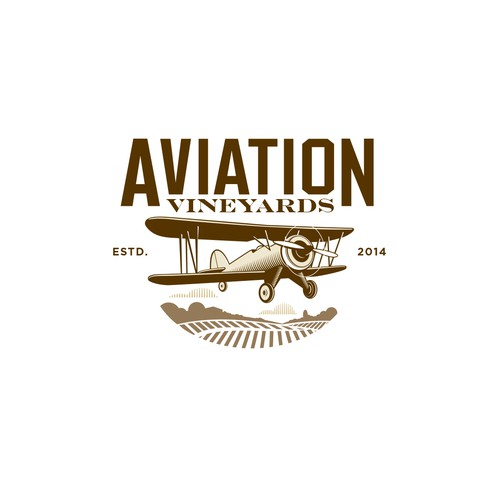 Logo concept for Aviation vineyard