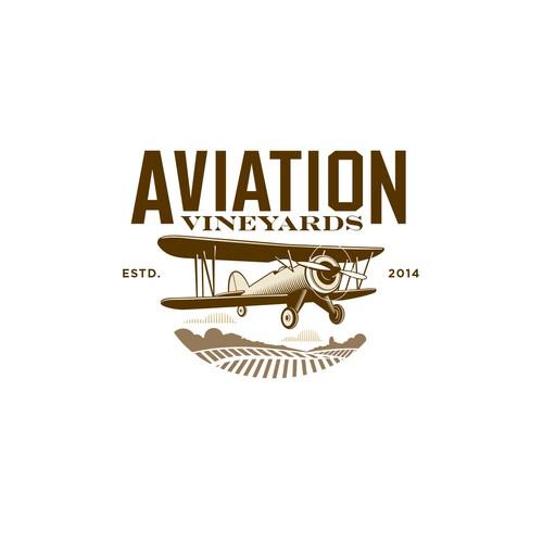 Logo concept for Aviation vineyard