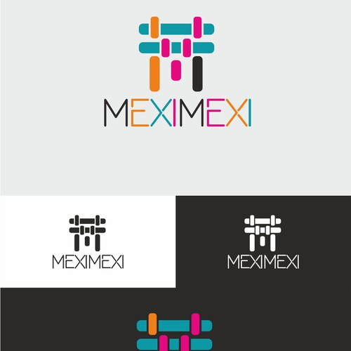 Colorful logo concept for handmade bags brand