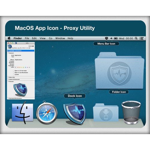 Mac OS X Application Icon for Proxy Utility
