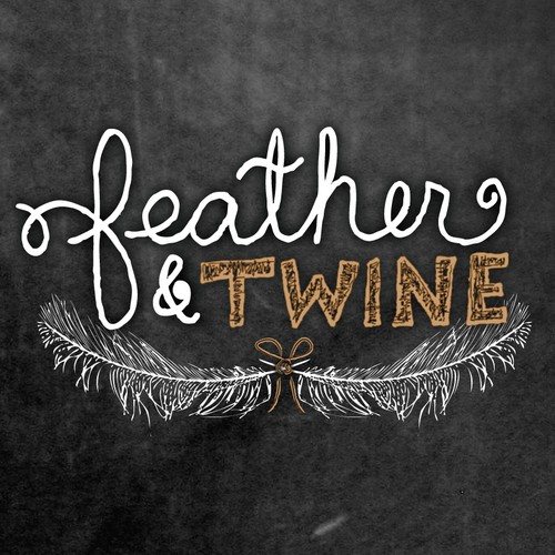 Feather & Twine Hand-Drawn Logo