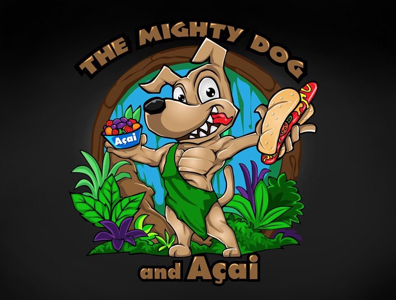 Help The Mighty Dog and Acai with a new logo