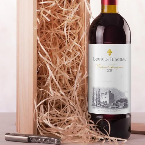 Louis De Magnac Wine label