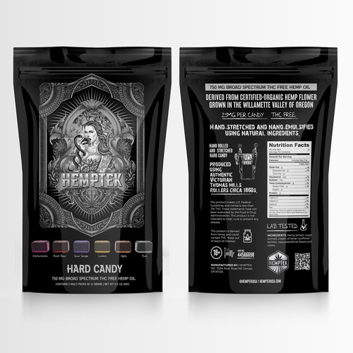 Design CBD Hard Candy Packaging to appeal to people that are health conscience