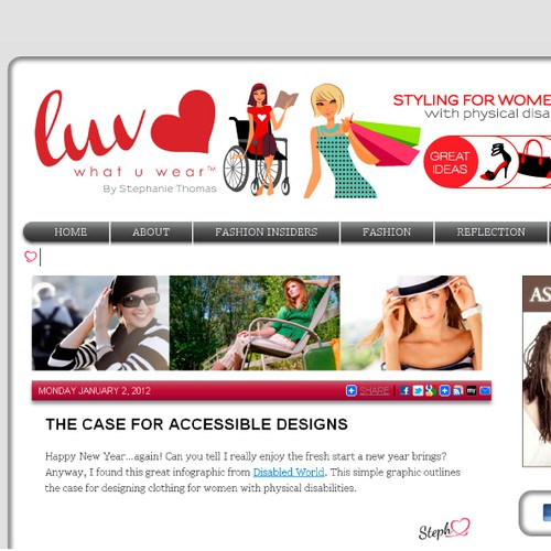 New banner ad wanted for Luvwhatuwear
